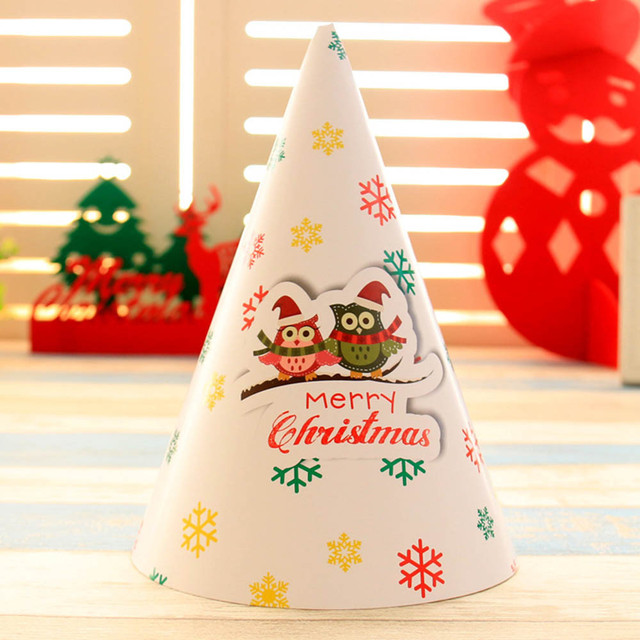 1111 christmas decorations cartoon children christmas hat cardboard children hat - Cardboard Christmas Decorations