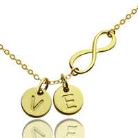 Wholesale Gold Infinity Name Necklace Personalized Infinity Necklace 2 Initials Necklace Love Jewelry Valentine S Day