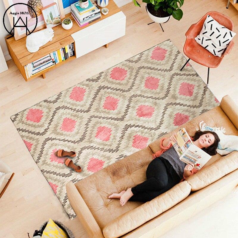 Salon tapis anti-dérapant chambre tapis doux grands tapis rose tapis zone tapis couverture tapis enfants chambre tapis vacances décoration tapis