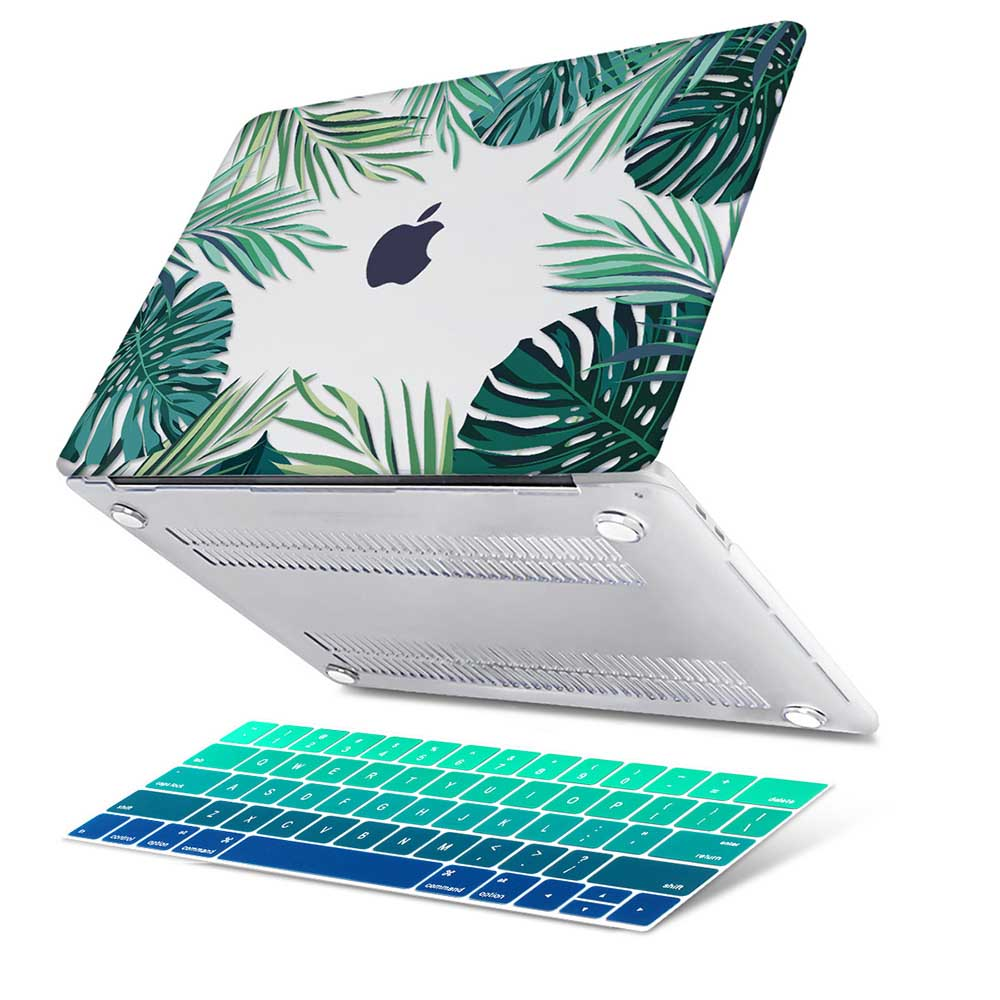 Image 4 - Green Leaves Beautiful Petals Printed Plastic Case Cover for Macbook Air 11 12 13  A1932 2020 Pro 13 15 16Touch Bar 2019 A2141case cover for macbookcover for macbookcover for macbook air -