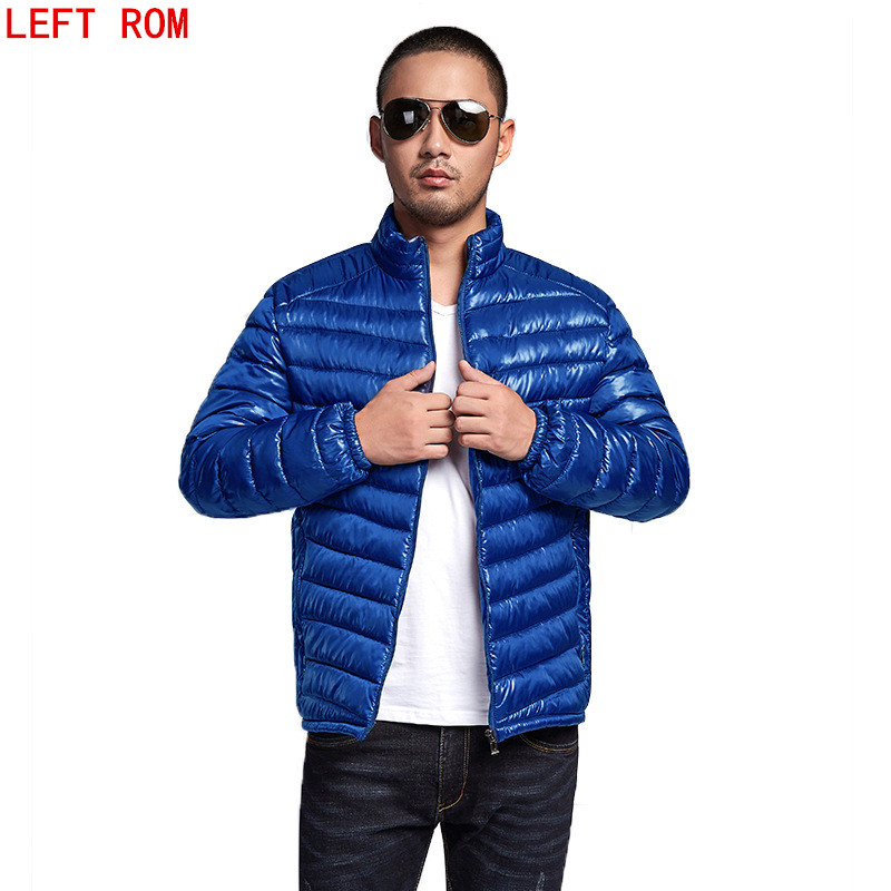 2017 New Casual Brand White Duck Down Jacket Men Autumn Winter Warm Coat Mens Ultralight Duck Down Jacket Male Windproof Parka