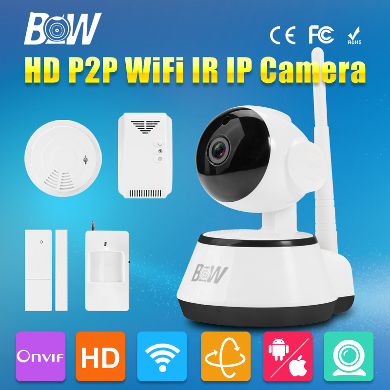 BW P2P IP Camera Wifi Wireless 720P HD Security Cam ONVIF Cloud Night Vision Micro SD Card with Sensor Detector Homecare CCTV 720p hd wifi camera p2p wireless baby monitor security camera cloud storage night vision camera compatible with sensor detector