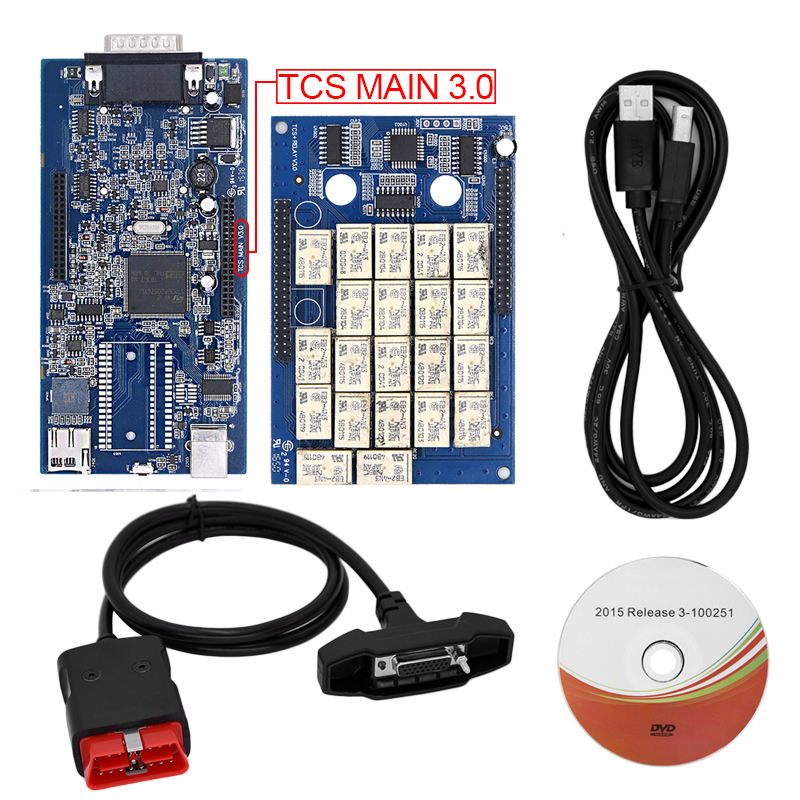 5pcs/Lot 2014 R3 TCS CDP pro plus Two pcb V3.0 new vci with bluetooth scanner LED 3 IN1 Carton Box 2015 R1 R3 DHL free new arrival new vci cdp with best chip pcb board 3 0 version vd tcs cdp pro plus bluetooth for obd2 obdii cars and trucks