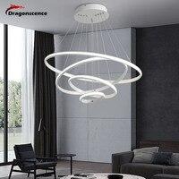 Dragonscence Modern LED Pendant light Ring Lustre High power Lighting circle Aluminum Lamp For Dinning Room Bedroom Restaurant