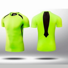 Men's Quick Dry Breathable Sport T Shirt Bodybuilding Fitness Tights Homme Gym Clothing Compression Jerseys Slim Running Shirts