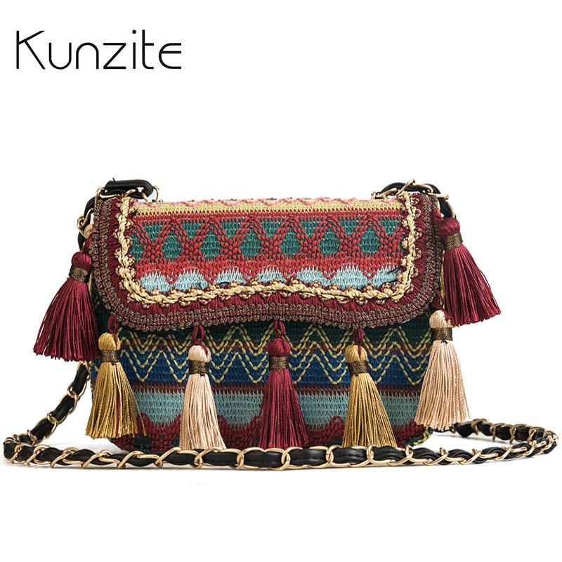 Kunzite Crossbody-Bags Hand-Bag National Ladies Tassel Small Fashion High-Quality Women