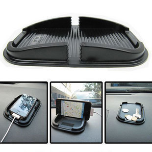 Multi-functional car Anti Slip pad Rubber Mobile Phone Shelf Antislip Mat For GPS MP3 Cell Holder