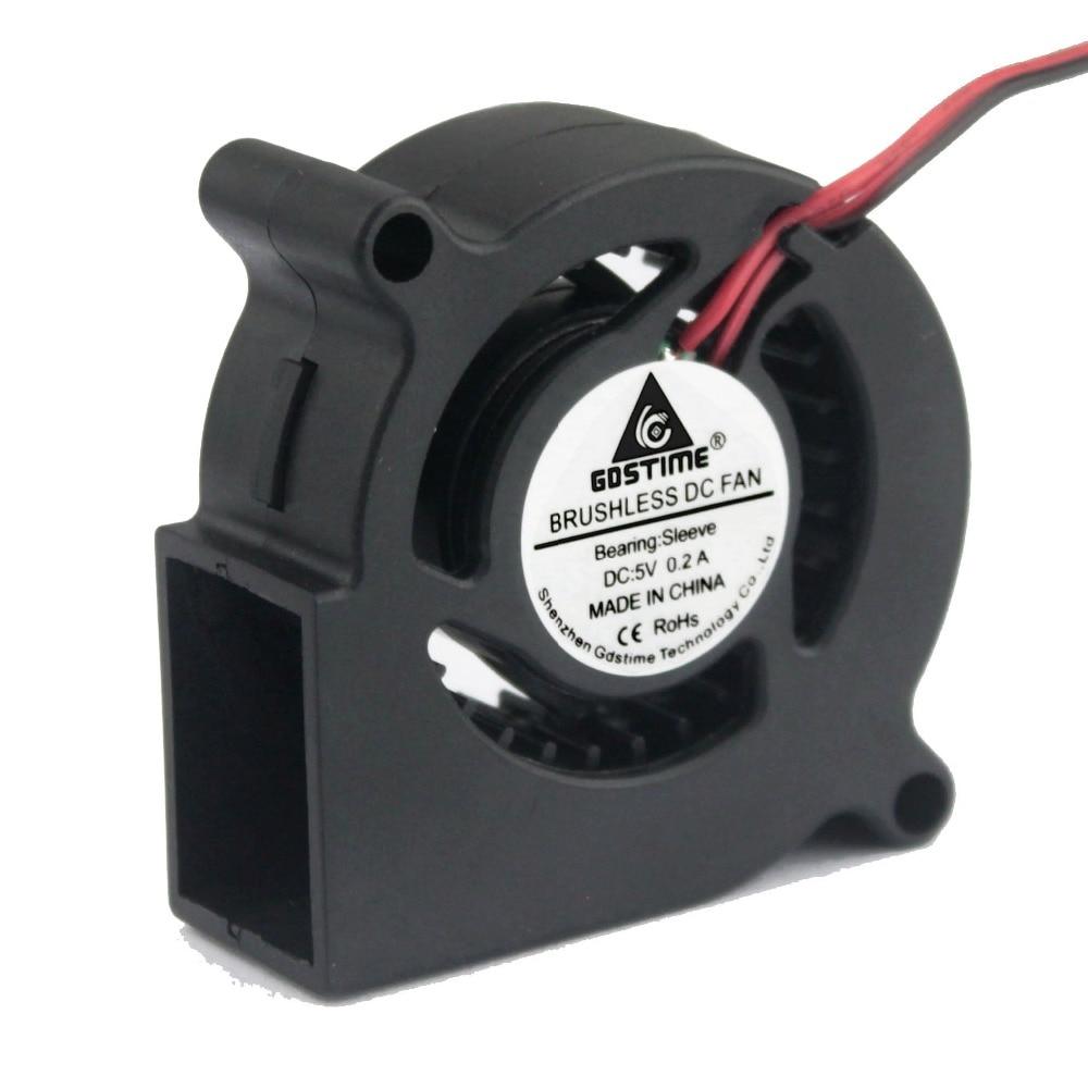 1 Stück Gdstime 5cm Gebläse Fan 50mm DC 5V Maschine Equitment - Spiele und Zubehör