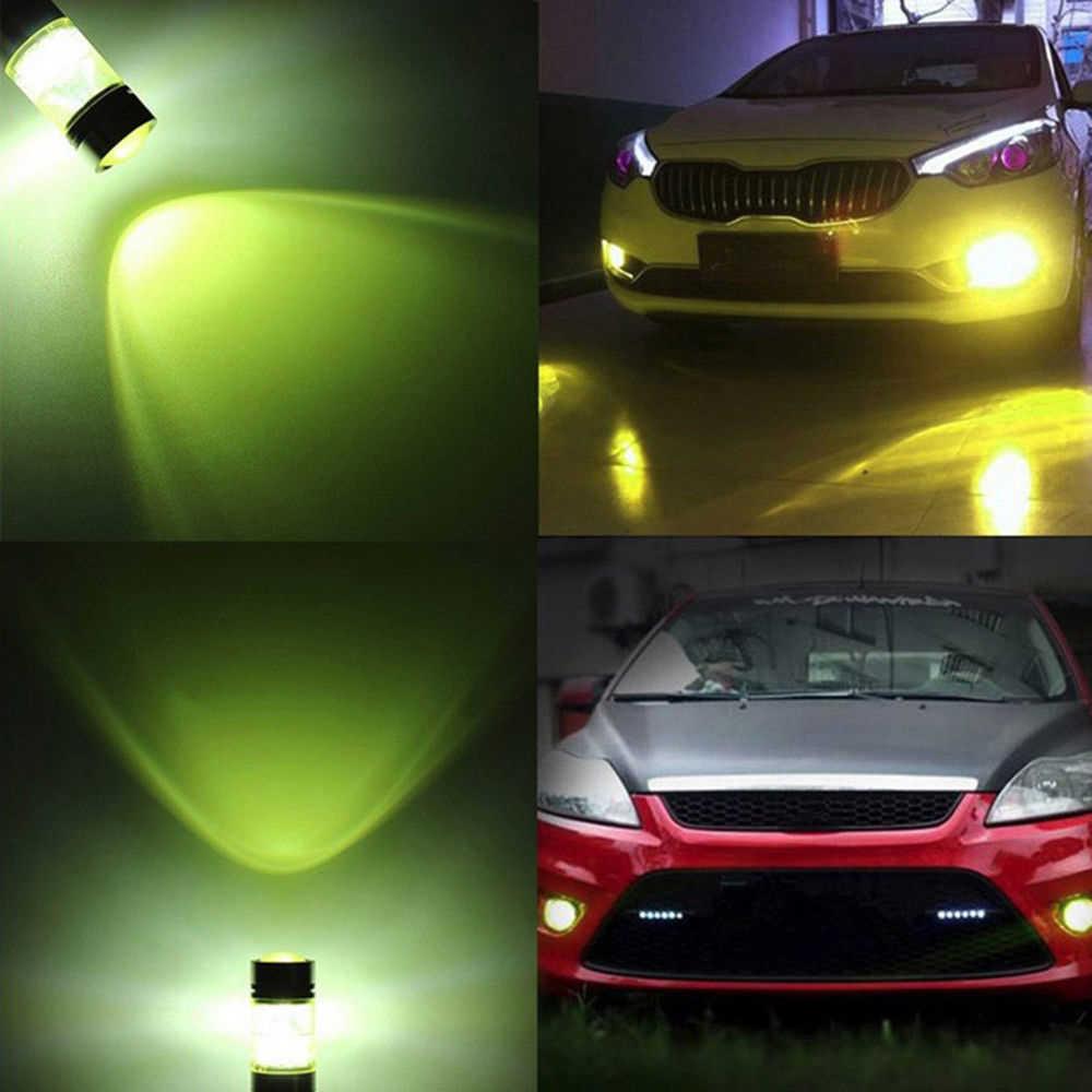 2 pcs 4300 k 1000Lm H3 2828 12-24 V נהיגה מנורה אוטומטי ערפל אור LED רכב אורות LED נורות צהוב בשעות היום ריצת אורות ערפל אור