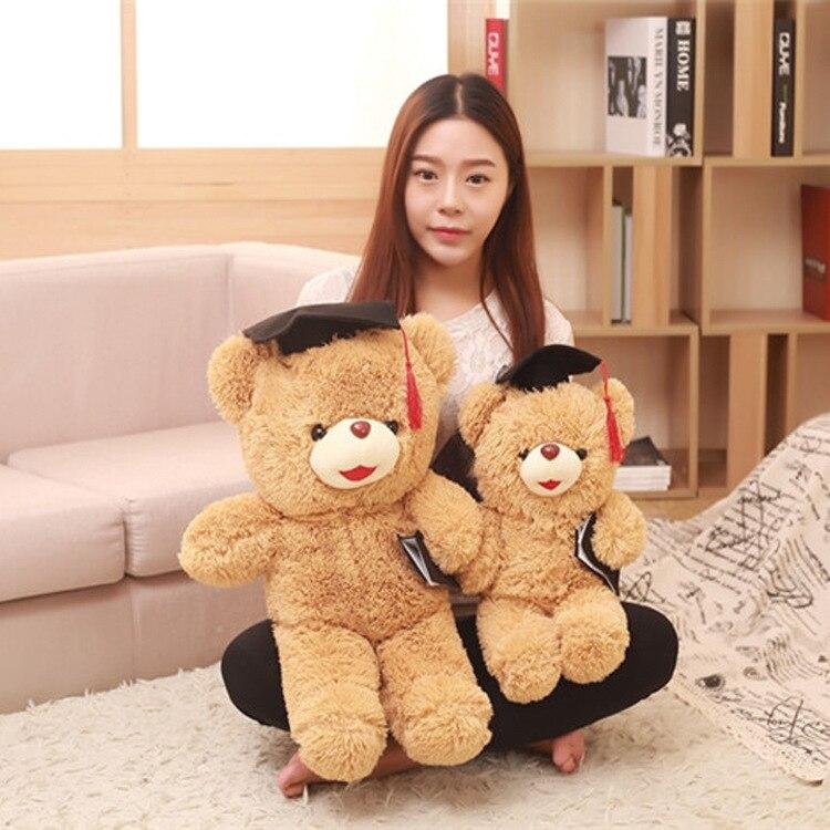 45-65Cm Super Cute Doctor Teddy Bear Plush Toy Soft Bear Doll Baby Toy Birthday Gifts Children Soft Bear Presents
