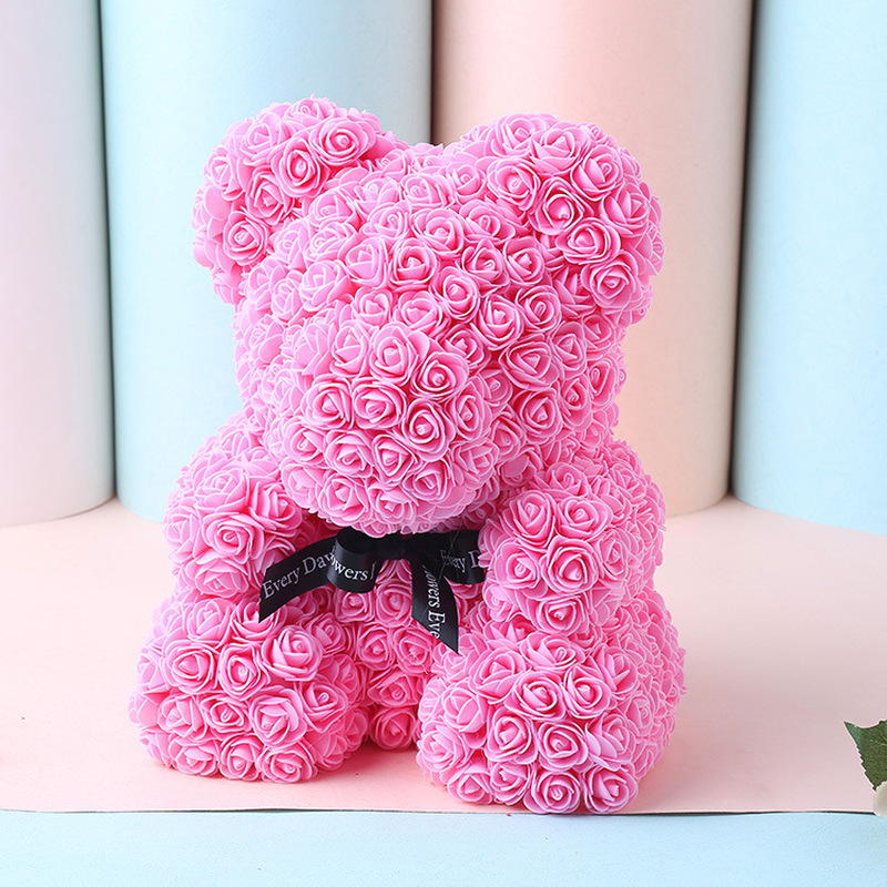 Valentines Romantic Gift Box PE Rose Bear Artificial Rose Decorations Cute Cartoon Girlfriend Kid Gift Wedding Favors and Gifts in Party DIY Decorations from Home Garden