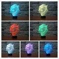 Lámpara de Shrek 3D Visual Llevó Las Luces de Noche para Niños Mesa Táctil USB Lampara ya que Además de Lampe de Dormir Del Bebé de Luz Nocturna