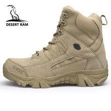 7f353e6b17 RAM Marca dos homens DO DESERTO Botas bota Militar Tático de Combate  Segurança Chukka homens Tornozelo