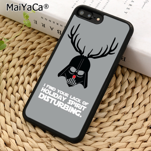 best website 59a60 0a516 Darth Vader Christmas Funny Star Wars Phone Case Cover For Iphone 5 5S 6 6S  7 8 X XS Max Samsung Galaxy S6 S7 S8 S9 Plus