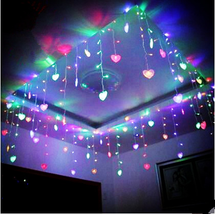 8x0.5m New Year Garland LED Christmas Lights For Wedding Decoration Cristams Cortina De LED Curtain Sting Fiary Lights ...