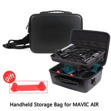 Whole Set of Accessories Storage Bag PU Waterproof Handheld Suitcase Carrying Case Double-Deck Bag for DJI MAVIC AIR