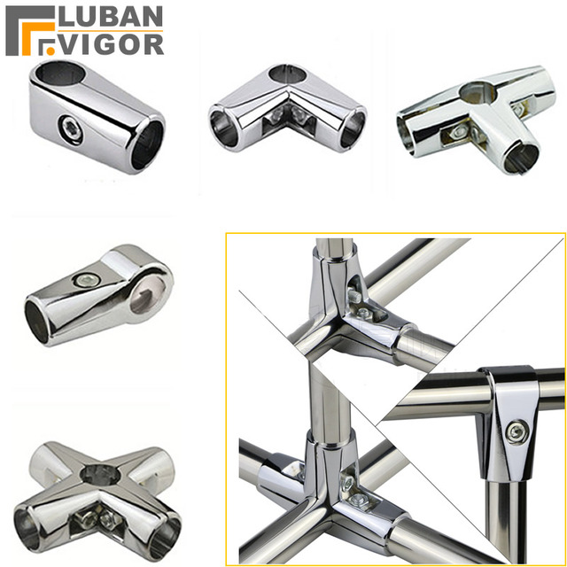 Aluminum alloy connector for Stainless steel tube/pipe, Movable fastening, Shelves Clothes rack Display rack Connector fittings