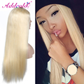 #613 Light Blonde U Part Wigs Virgin Hair 10A Best Quality Peruvian Human Hair 24inch 130% Density Straight 1.5*4 Middle Parting