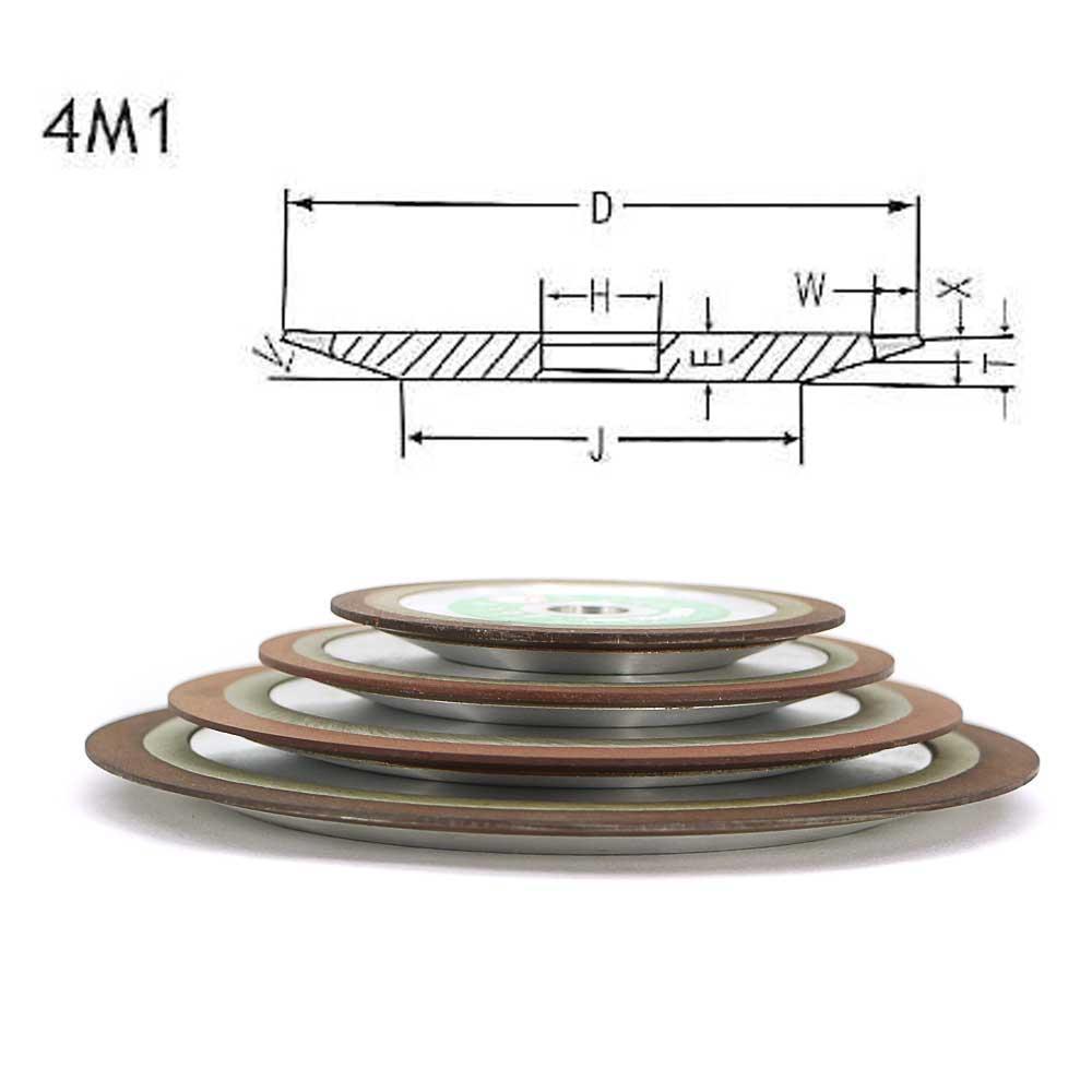 Roda de diamante da resina para tratamento de madeira cônico único roda abrasiva de carboneto de tungstênio liga dura dos dentes da lâmina afiar R003b