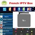 TX7 1 Año Envío 900 + Canales de IPTV IPTV Árabe Francés QHDTV/Neotv S905X Android 6.0 Amlogic Quad core 2/32G Android TV Box H.265