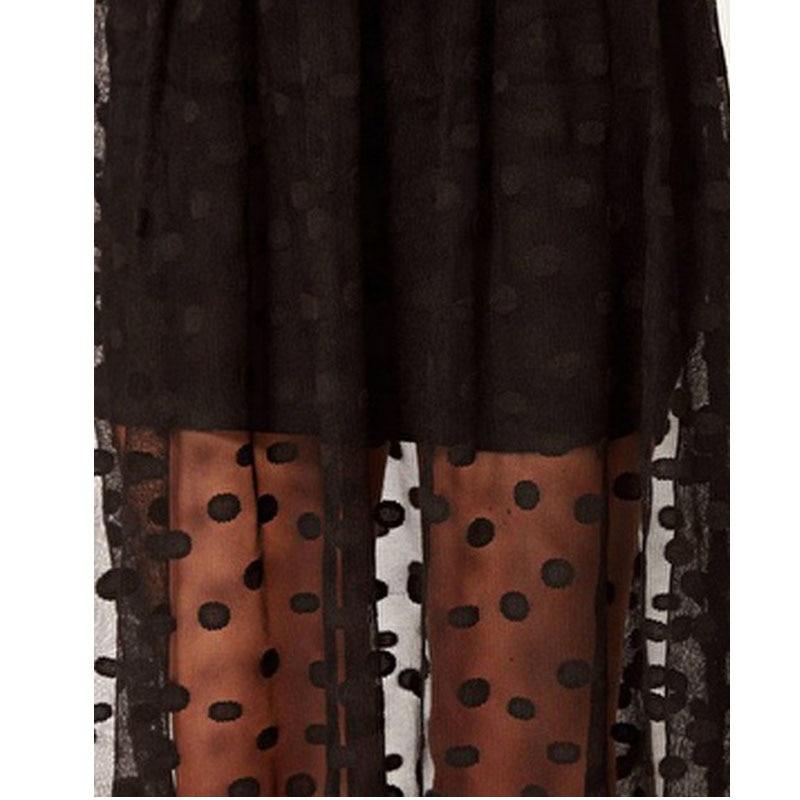 16da4695bb Faldas maxi largas mujeres de gasa negro transparente skrit moda para mujer  tul grunge punto recto ropa falda sexy saias longa en Faldas de La ropa de  las ...