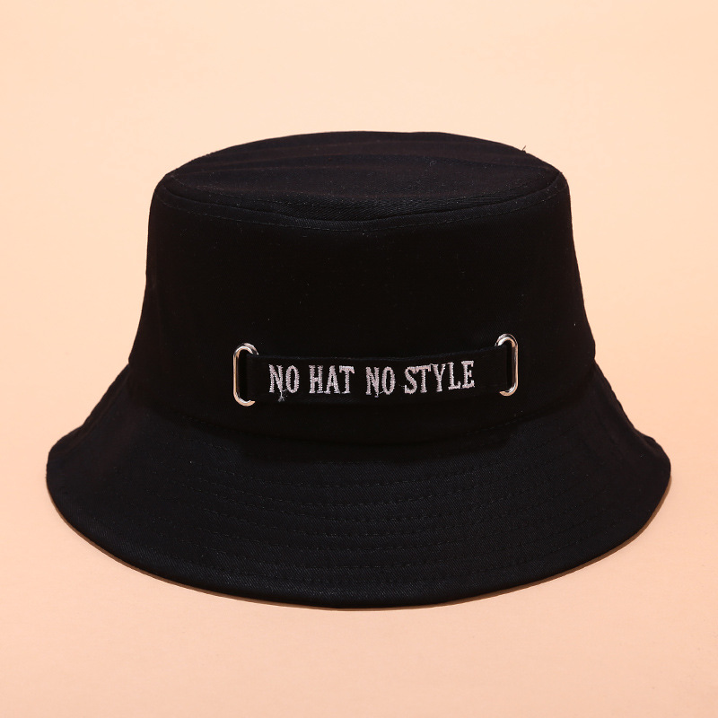 Cotton  No Style Letter Embroidery Bucket Hat Fisherman Hat Outdoor Travel Hat Sun Cap Hats For Men And Women 06