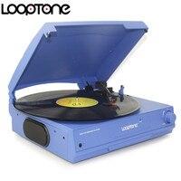 LoopTone с ременным приводом 33/45/78 оборотов в минуту, виниловые пластинки проигрыватель проигрыватели дисков Встроенные динамики наушники Jack & ...