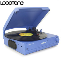 LoopTone Belt Drive 33 45 78 RPM Vinyl LP Record Player Turntable Disc Players Built In