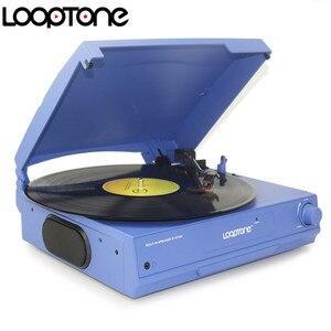 Image 3 - Looptone Dây Ổ 33/45/78 Vòng/phút Bluetooth Vinyl LP Kỷ Lục Cầu Thủ Bàn Xoay Đĩa Loa Tích Hợp Jack Cắm Tai Nghe & Rca Line Out
