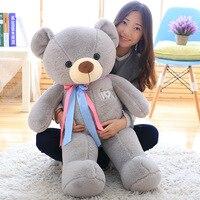 120cm Giant cute Teddy Bear doll plush ribbon bear toy birthday gift
