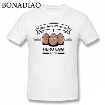 Funny Hero Egg Tee Man 2018 One Punch Man T Shirt Casual O-neck Cotton Saitama T-shirt