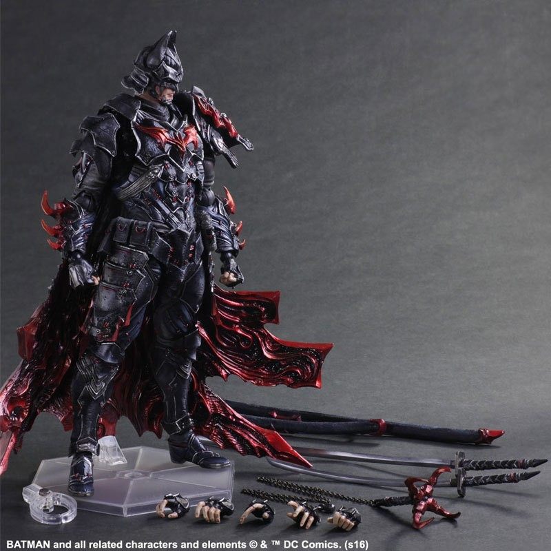 DC COMICS Play Arts KAI Batman Bushido Timeless PVC Action Figures Collectible Model Toys 27.5cm free shipping 8 5 inch octopus lure double octopus skirt resin head with hook line fishing tackle suit cheap fishing package