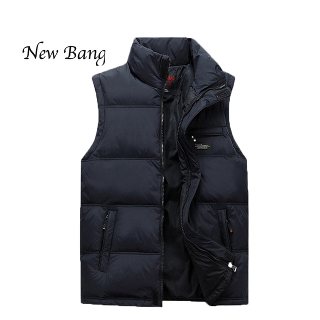 2016 New Men's Winter Vest Cotton Warm Mandarin Collar Sleeveless Jacket Man Plus chaleco hombre chalecos hombre sin mangas