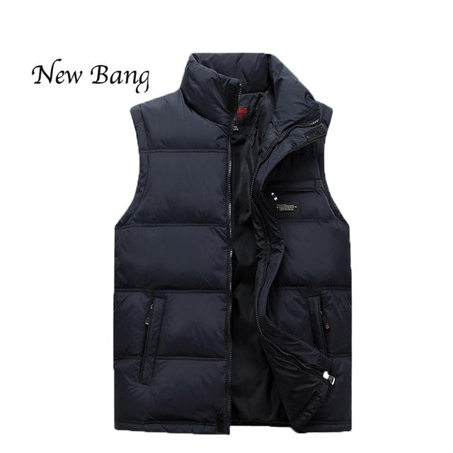 2016 homens Novos do Inverno Colete de Algodão Quente Gola Mandarim Mangas Jacket Man Plus chaleco hombre hombre mangas pecado chalecos