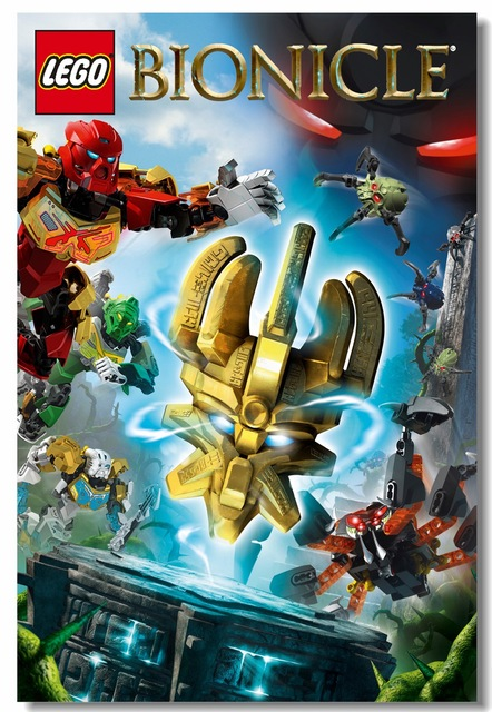 Custom Canvas Wall Painting Video Game Lego Bionicle Heroes Poster