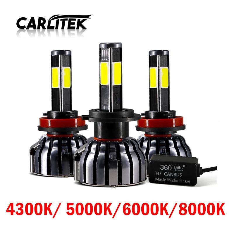 CARLitek 4 Diode Lamps H7 Led Canbus H4 880 H1 H11 Car Headlights 12V 90W 12000LM