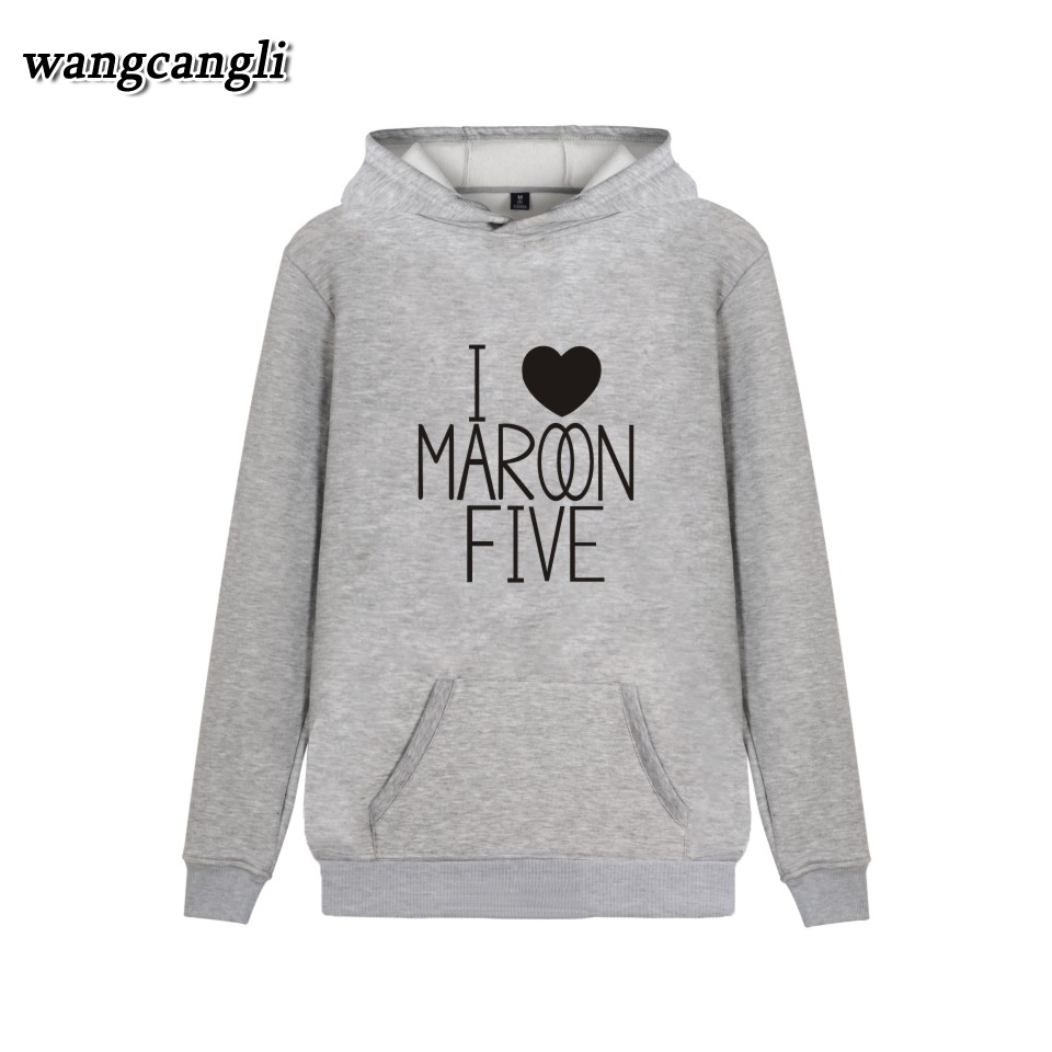 2018 Maroon 5 Fashion Harajuku Winter Hoodie Sweatshirts Men and Fitness Hip Hop Sweatshirt hoodies men Jacket Coat Women