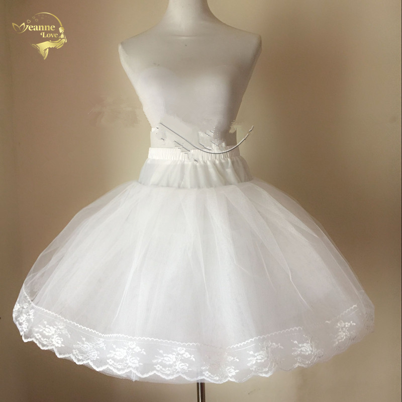 Short Skirts A Line Petticoat Crinoline Bridal Petticoat For Wedding Dresses Underskirt Rockabilly Jupon Saia Women In Stock