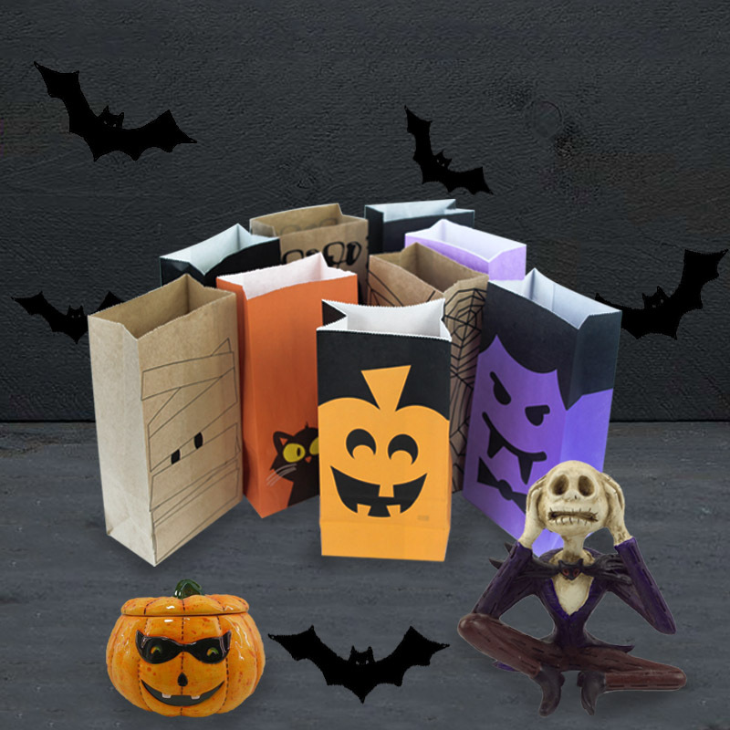 Halloween Theme Party Ideas For Kids.Us 3 38 11 Off 10 Pcs Terror Halloween Theme Party Paper Bag Diy Party Decorations Kids Halloween Gift Treat Bags Favors And Gifts Supplies In Gift