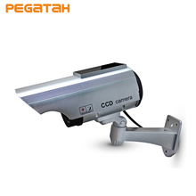 New CCTV Security Fake Camera Outdoor Bullet Camera With Flashing 2 *AA Battery Recharged by Sun Solar Power camera