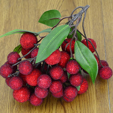 050 Imitation Yang Meizhi string fake bayberry sticks, fake fruit string, bayberry model, Photo Props, window decorations(China)