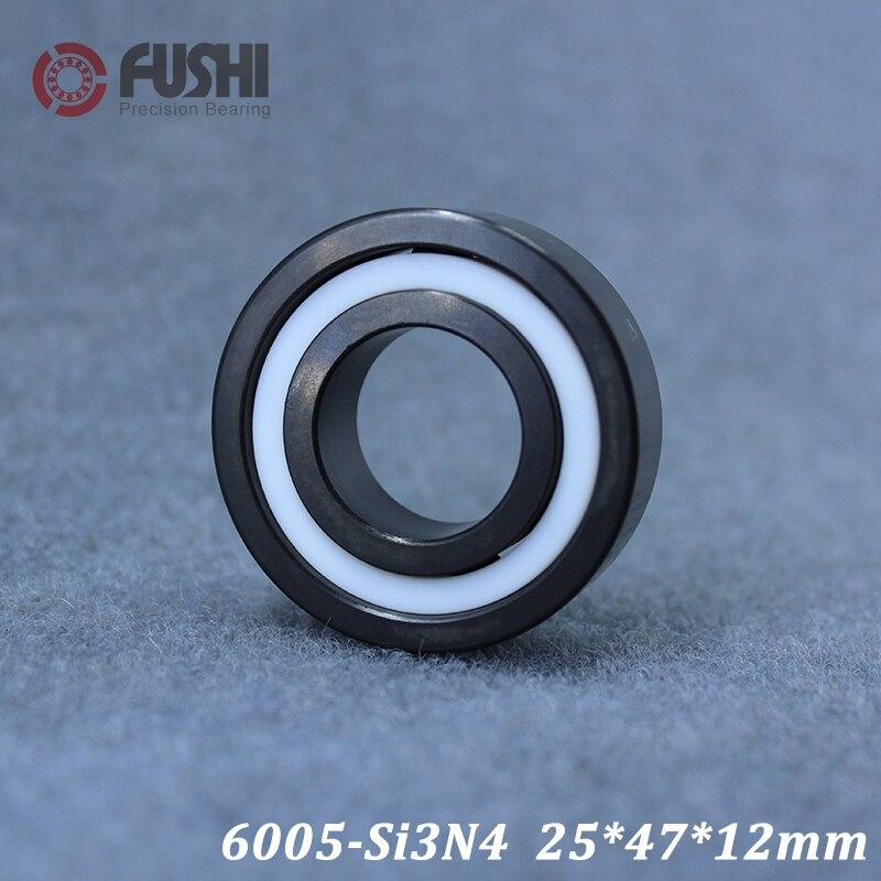 6005 roulement en céramique complet (1 PC) 25*47*12mm Si3N4 matériel 6005CE tous les roulements à billes en céramique de nitrure de silicium