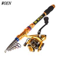 WOEN High Carbon 2 7m Sea Fishing Throlling Rod 4000 Type All Metal Spinning Wheel Rod