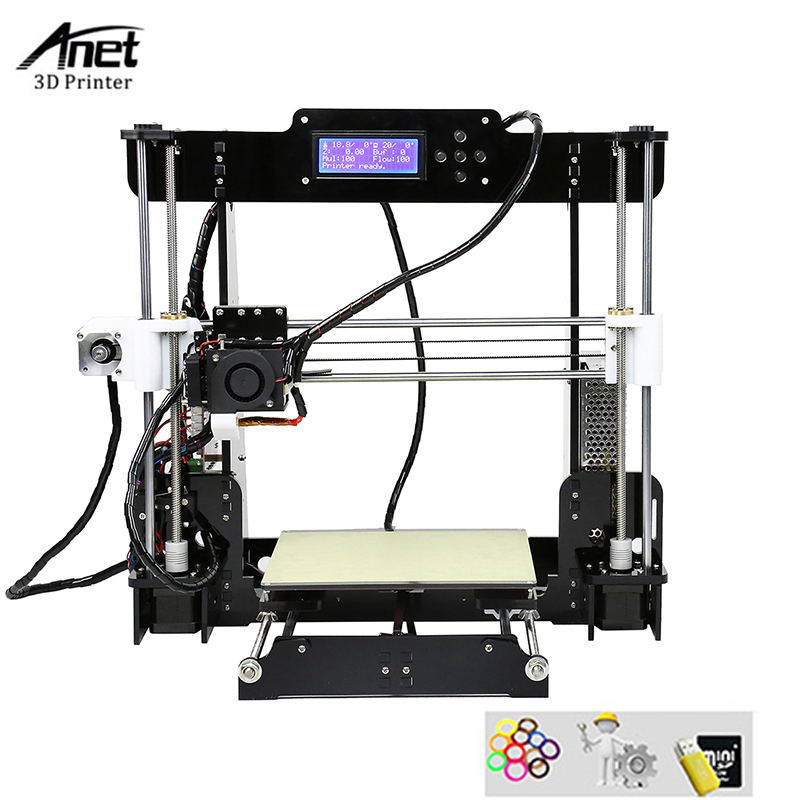 Auto Leveling Anet A8 3d Printer PLA ABS HIPS 3D Printin Machine High Precision Lead Screw 3D Printer Kit For Sale x p7 3d printer diy kit 1 75mm 0 4mm support abs pla hips 1286 4mini lcd screen
