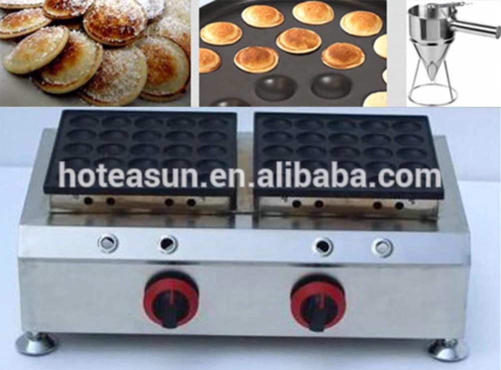 LPG Gas Mini Dutch Pancake Poffertjes Maker Machine Baker Iron Mold Pan + Batter Dispenser 2 in 1 non stick lpg gas dutch mini pancakes poffertjes dorayaki maker machine baker batter dispenser