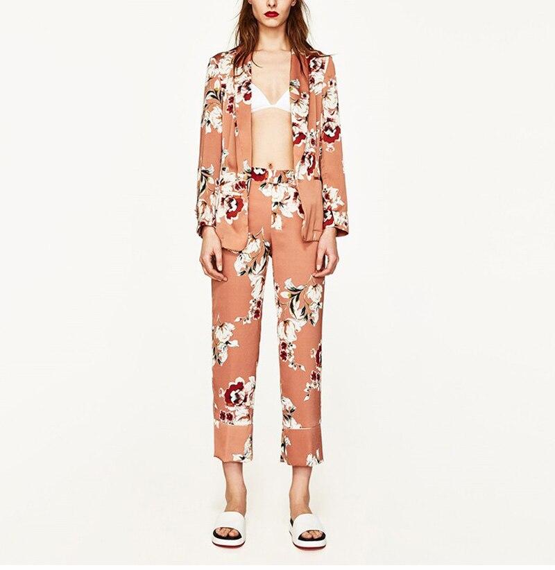 U05deu05d5u05e6u05e8 - 2017 fashion blazer women vintage floral print blazer feminino jackets long sleeve coat ...