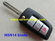 Free Shipping Folding 2+1 Button Remote Flip Key Shell Blank Fit For Nissan X-Trail Qashqai Geniss Altima Maxima Sentra Versa