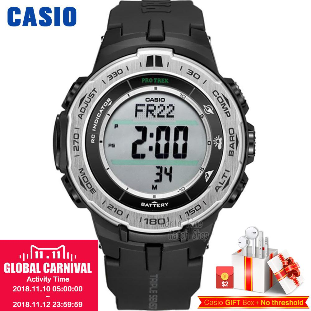 Casio watch Mountaineering series of solar energy mountain climbing male watch PRW-3100-1 PRW-3100G-3P PRG-270-1A casio prw 7000 1b