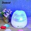 Jiaderui USB Romantic Rose Shaped Projector Night Ligh Children Kids Baby Sleep Lighting Lamp Sky Star