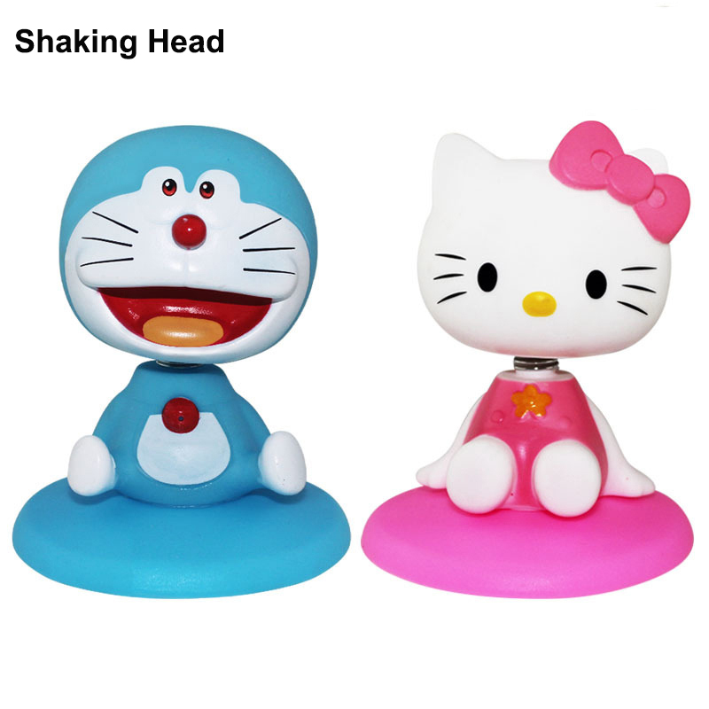 TOLOLO 2018 New Shaking Panda Head DoRaemon Action Figure Toy Vinyl Cute Collection Decoration Gift Toy for Cake Birthday Party